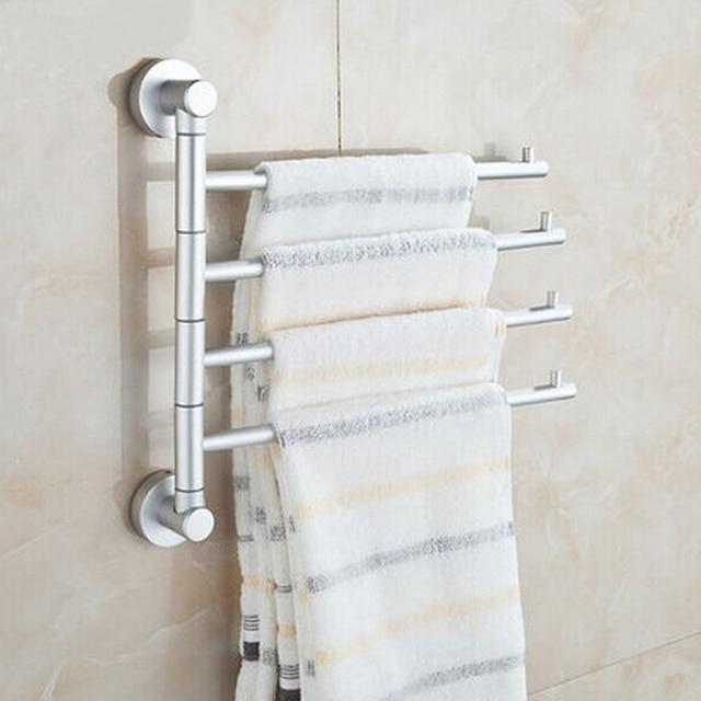 Fest Space Aluminium Wand Bad 4 Bars Swivel Handtuchhalter Badezimmer  Asscessories Flexible Handtuchhalter