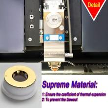 Gold Coating Ceramic Ring Used for Optical Fiber Laser Cutting Machine 24.5 X 28mm Precitec KT B2 CON for Most Popular Machine