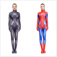 2019 Halloween Women Spiderman Leotard Costume Sexy Female Anime Cosplay Super Hero Spider Superwomen Fancy Outfits Jumpsuits