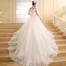 Fansmile Высокое качество Винтажный кружевной Длинный Шлейф Свадебные платья Vestido De Noiv размера плюс свадебные платья FSM-151T