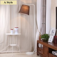 2016 Modern simple led floor lamp fabric lampshade AC 90 260V e27 stand lighting for living room free shipping