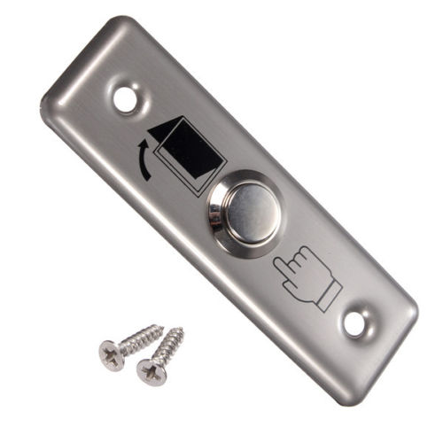 Electric Door Lock Free Shipping! Stainless Steel Button Box Gate Out Switch For Normally Open Output Access Control System free shipping high quality stainless steel 4pcs side door streamer door protection bar for toyota highlander 2007 2011