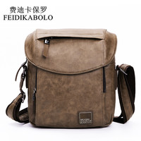 FEIDIKABOLO New Men Bags Leather Male Bag Retro High Quality Shoulder Crossbody Bag Men Messenger Bags Waterproof Briefcase Man