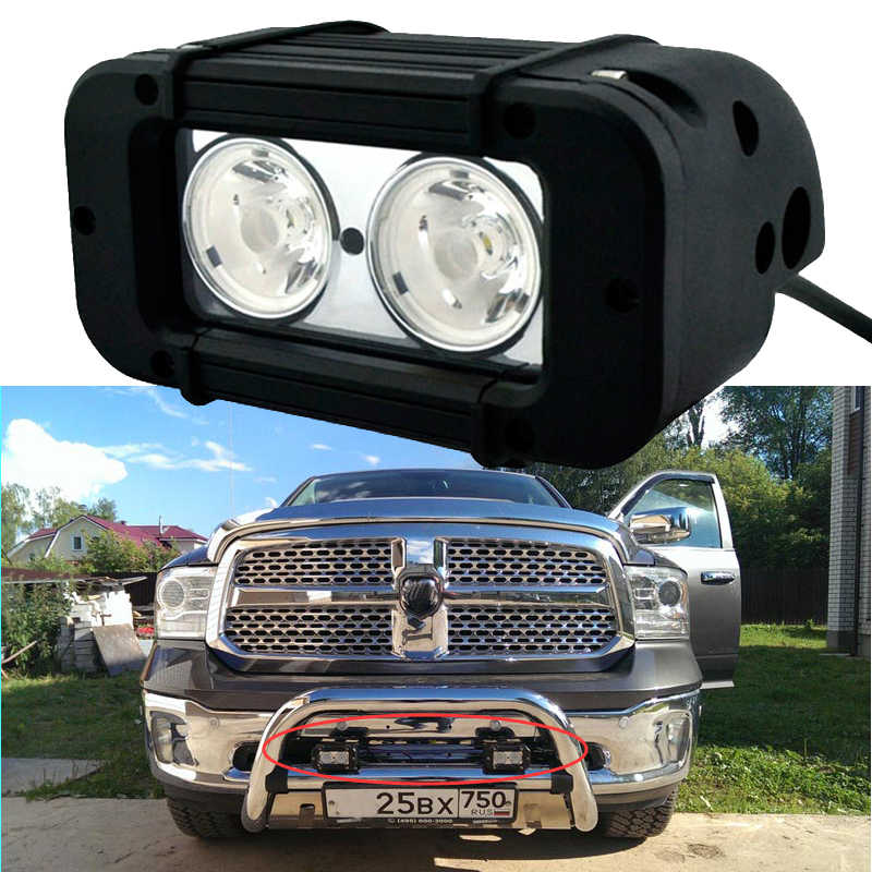 OVOVS car accessories single row auto part 12v 20w led light bar for 4x4 offroad motorcycle off road 1Pcs
