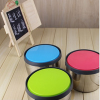 3 Pieces Per Set Stainless Steel Fresh Bowl Portable Type With Cover Lunch Box Free Shipping