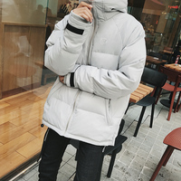 2017 Winter Male New Korean Style Warm Thicken Casual Loose Clothes Pure Color Down Ultralight Jackets Goose Feather Coat M-2xl