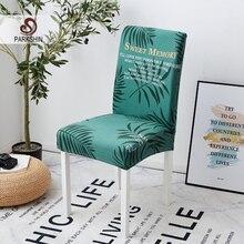Parkshin Fashion leaf housse de chaise amovible grande housse élastique housse de siège de cuisine moderne housse de chaise extensible pour Banquet
