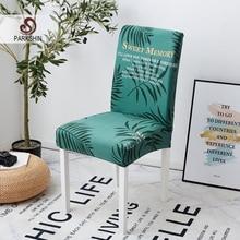 Parkshin 패션 잎 이동식 의자 커버 큰 탄성 슬립 커버 현대 주방 좌석 케이스 연회를위한 스트레치 의자 커버