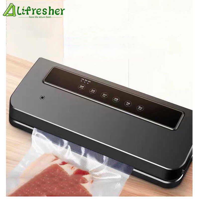 Lifresher Kitchen Vacuum Food Sealer With 25cm/Roll food Seal Bags Automatic Electric Food Vacuum Sealer Packaging Machine 220V