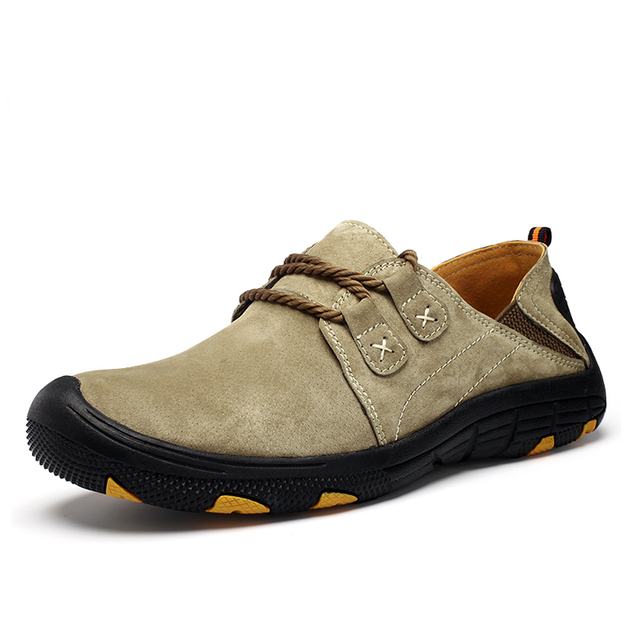 Size 38-48 Men Hiking shoes Waterproof Outdoor climbing trekking shoes Autumn Winter Genuine leather outdoor Shoes sneakers