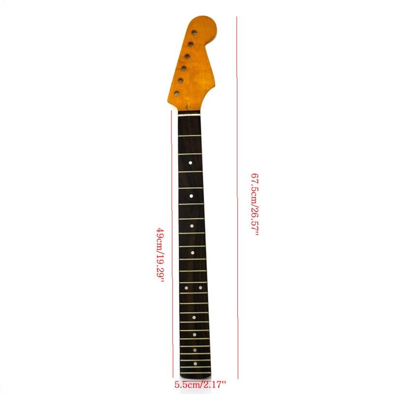 1pc guitar parts necks 22fret tiger flame electric guitar neck for st part maple rosewood smooth. Black Bedroom Furniture Sets. Home Design Ideas