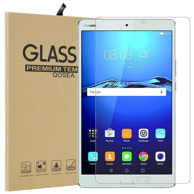 Qosea For Huawei MediaPad M3 8.4 Table PC Tempered Galss 9H Ultra Clear Screen Protector Film For Huawei MediaPad M3 8.4 Glass