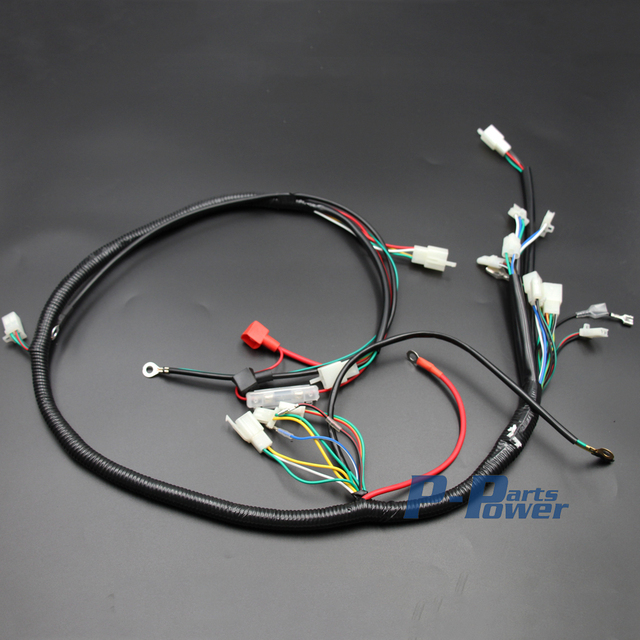150cc dune buggy wire harness wiring diagram Rail Buggy Wiring engine wiring harness wire loom for gy6 125cc 150cc quad bike atv 150cc dune buggy