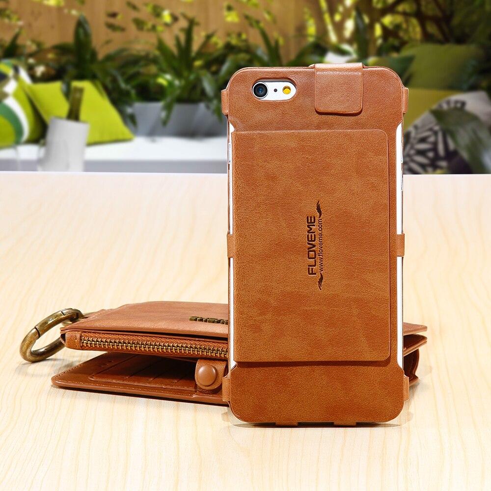 Floveme Wallet Purse Phone Case For Apple iPhone 5 5S SE Business ...