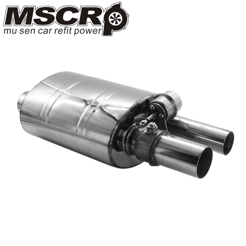 "Image 5 - Stainless Steel 2.5"" Straigh Outlet Tip 2.5""Inlet Weld On Single Exhaust Muffler with different sounds/Dump Valve Exhaust Cutout-in Mufflers from Automobiles & Motorcycles"