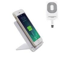 1 Unidades luz blanca plegable teléfono móvil soporte de carga inalámbrica y receptor suite para iphone 6, 6 S 4.7''