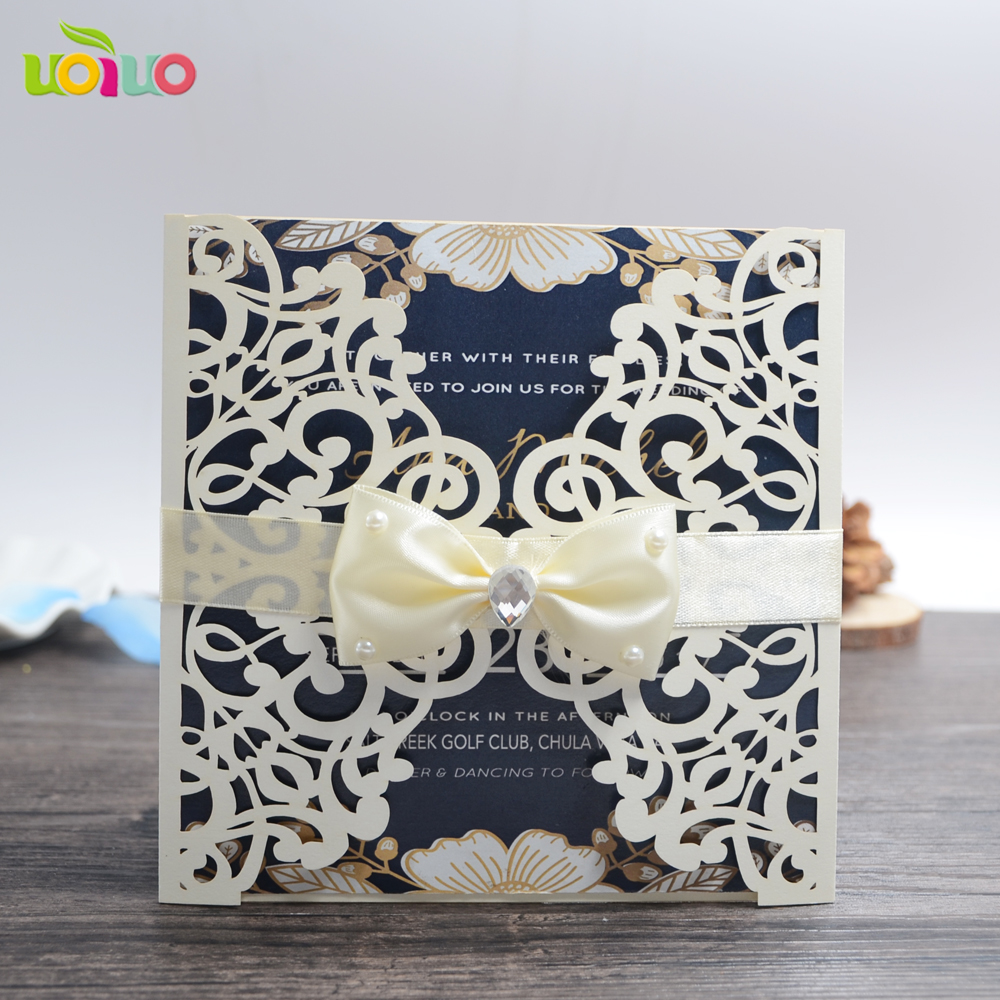Inexpensive Wedding Invitation Ideas: Cheap Wedding Invitation Card 100pcs , Laser Cut Brown