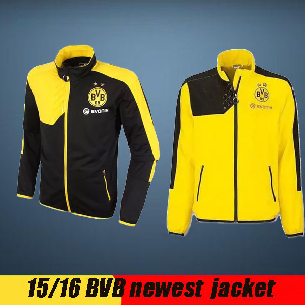 f53c3cb26c98 Survetement football borussia dortmund training soccer tracksuits 15 16  Champions League Germany BVB dortmund sport jacket pants