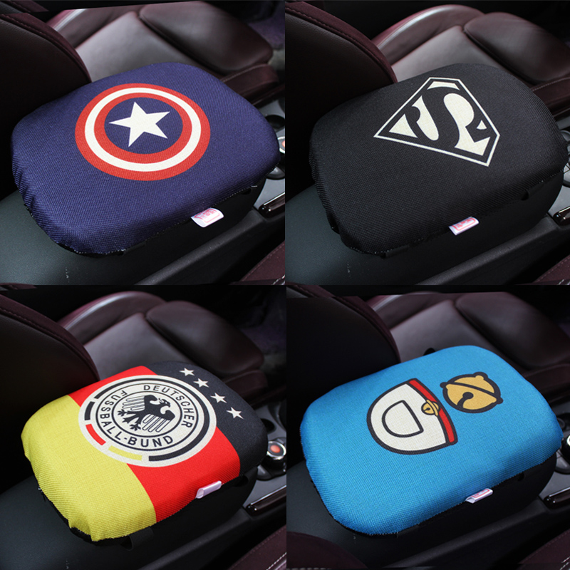 Cartoon Car Armrest Pad Covers Universal Center Console Auto Seat Armrests Box Padding Linen Storage Protection Foam Cushion|car armrests pads cover|car armrest pad|armrest pad - title=