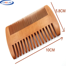 Carelax 1Pc Pocket Wooden Bread Comb Double Sides Super Narrow Thick Wood Combs Pente Madeira Lice Pet Beard Comb Hair Tool