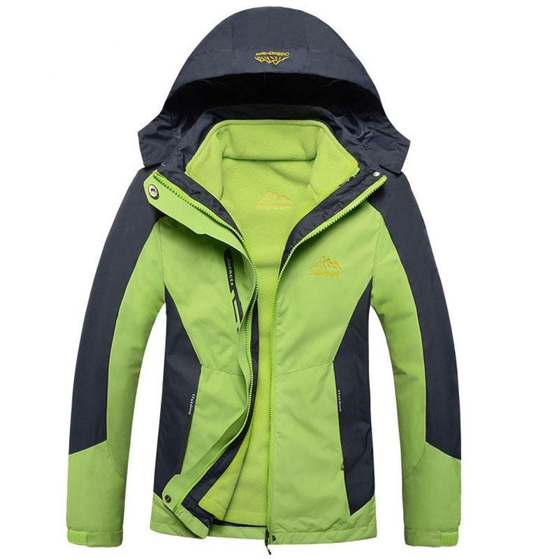 2017 femmes deux pièces hiver intérieur polaire veste en plein air Sport chaud manteau randonnée ski Camping femme imperméable coupe-vent