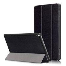 """PU Del Soporte Del Cuero Funda para el Lenovo TAB4 Tab 4 Plus 10 TB-X704 TB-X704F TB-X704N TB-X704L 10.1 """"Tablet + 2 Unids Protector de Pantalla"""