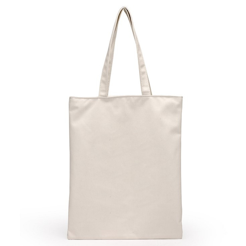 Wholesale White /Black Canvas Shopping Bag Foldable Reusable ...