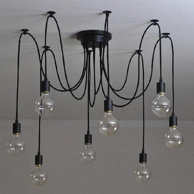 8 Light Vintage Industrial Steampunk Loft Chandelier Ceiling Lamp With 15m Wire For DIY