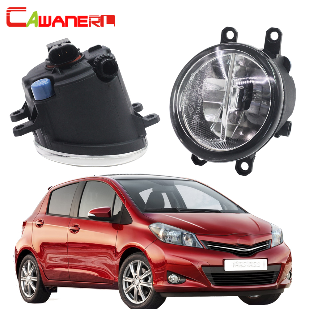 Cawanerl 2 Pieces H11 Car Styling LED Bulb Fog Light 4000LM White 6000K DRL Daytime Running Lamp 12V For Toyota Yaris 2006-2013 система освещения for all car 2 7w 18 led drl