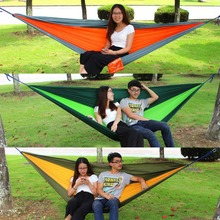 HWYHX YHX2016 NEW arrival 2.6*1.4M Outdoor Home Garden Tree Swing Hammock Bed Sleeping for 2 Person