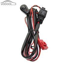 VODOOL 2 м авто кабель жгуты проводки комплект с 40A В 12 в ВКЛ/ВЫКЛ реле лезвие предохранитель для 72 Вт-300 Вт светодио дный лампы бар Туман лампа