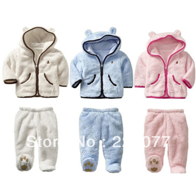 Clearance Specials winter clothes Korean children cotton thick pearl cashmere baby suit infant 0-1-2 boys girls wadded jacket