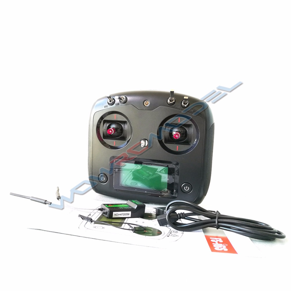 Black FS I6S FS I6S Flysky 10CH 2 4G RC Quadcopter Transmitter Controller with Receiver FS
