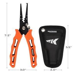 Image 2 - Kastking 420 ステンレス鋼釣プライヤータングステン超硬編組カッタークリンパーフックリムーバー海水にくい漁具