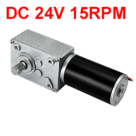 купить Uxcell(R) Hot Sale 1Pcs Worm Motor,DC 24V 15RPM High Torque Electric Power Speed Reduce Turbine Gear Motor по цене 1652.34 рублей