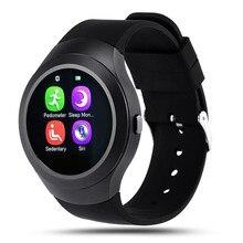 Smart watch l6 wasserdichte bluetooth tragbare gerät smartwatch uhr mit SIM Slot 1,22 Zoll Für iOS Android Teig Als DZ09 U8