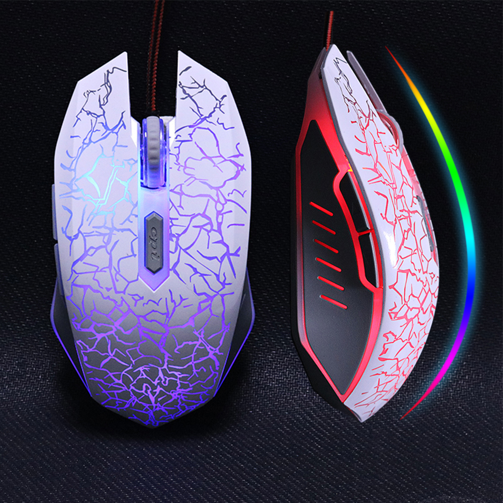ZUOYA USB Optisk Wired Gaming Mus Mus For Computer PC Laptop Pro Gamer Mus Dota 2 / LOL Sort / Hvid