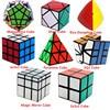 8 PCS 3x3x3 2x2x2 Magic Cube Professional Speed Cube Pyraminx Megaminx Mirror Cube Children Kids Toy