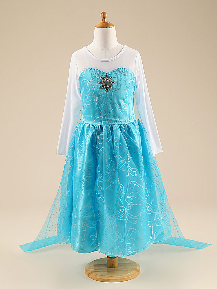 777544ce52151 US $6.53 48% OFF Cute Children Cosplay Princess Costume 3 4 5 6 7 8 Years  Birthday Party New Year Gift Lace Tail Dresses for Girls Kids Clothing-in  ...
