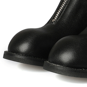 Image 5 - FEDONAS ماركة النساء 100% جلد الغنم منتصف العجل أحذية امرأة كعب سميك أحذية دراجات نارية من الجلد الأصلي النساء الخريف الشتاء الأحذية