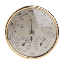 Wall Mounted Household Barometer Thermometer Hygrometer Weather Station Hanging Tool mechanical aneroid barometer hygrometer thermometer 225mm daimeter weather station home decoration gift
