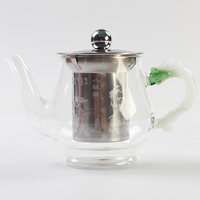 High Temperature Glass Teapot Thickening Large Capacity Stainless Steel Filter Teapot Kettle Tea Pot Teapot