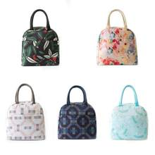 Printed Portable Lunch Box Tote Bag Insulated Bags Thermal Food Pouch for Women Men Kids Work School Picnic Camping BBQ