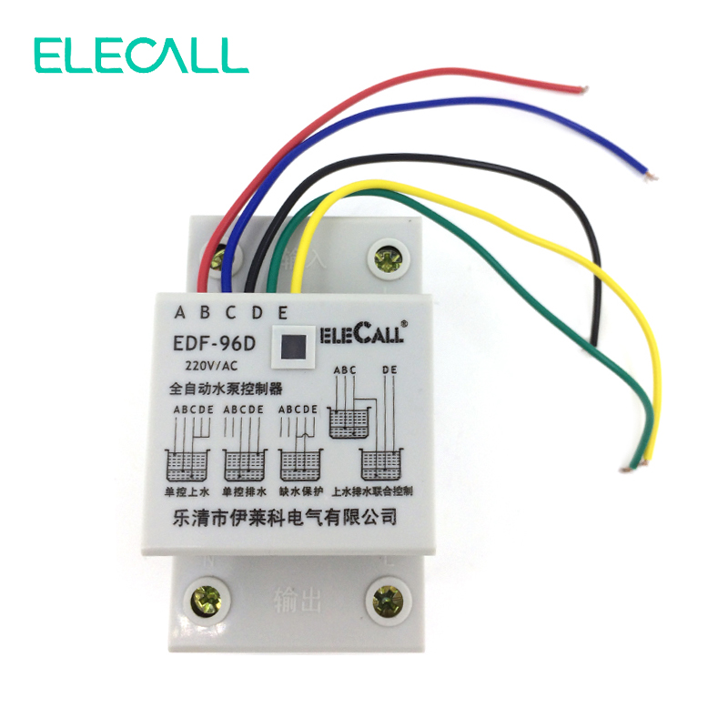 Free Shipping ! NEW 220V 5A 550W Float Switch Type Auto Water Electronic Water Level Controller EDF96D