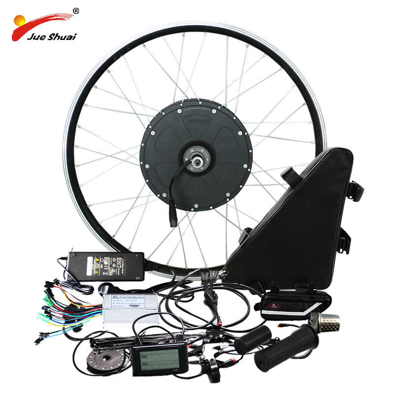 "1000W Powerful Electric Bike Conversion Kit with Lithium Battery 20"" 26"" 700C Motor Bicycle Wheel E Bike Conversion Kit qicycle"
