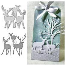 Cute Deer Metal Dies Cutting For Scrapbooking Stencil Photo Album Paper Card Craft Embossed