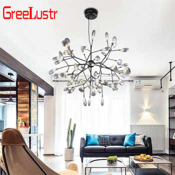 Nordic Loft Branch Tree Design LED Chandelier Lighting lamp Modern Glass Leaf Pendant Lamp Ceiling Luminaire Lustre Lighting - DISCOUNT ITEM  49 OFF Lights & Lighting