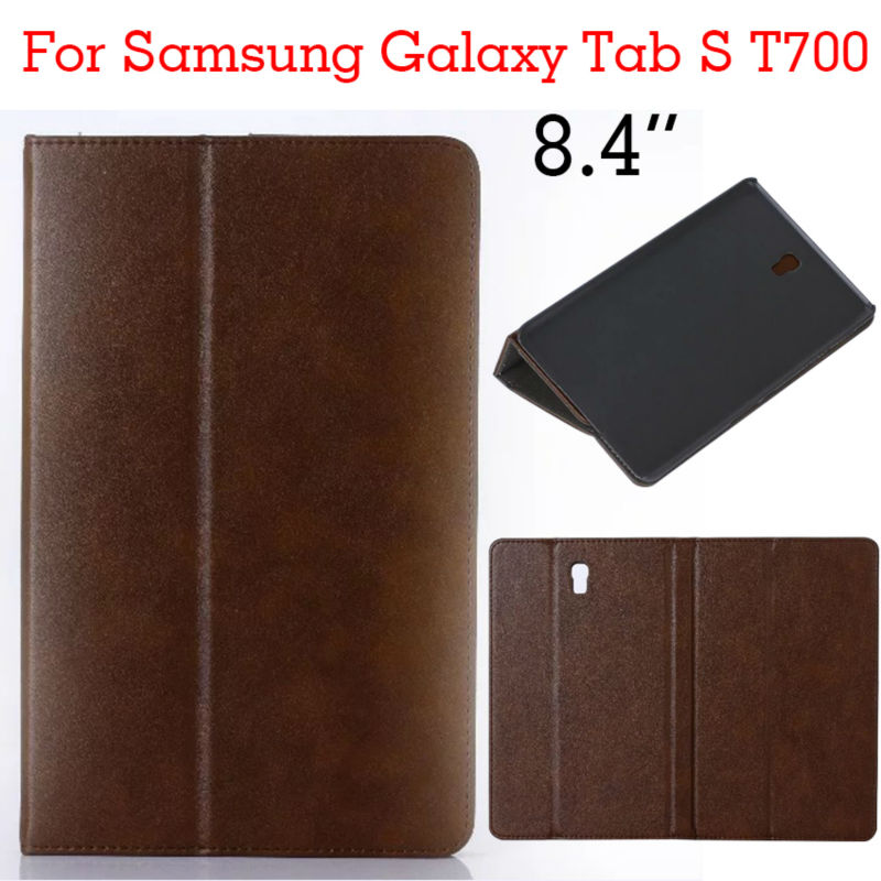 Case for Samsung Tab S 8.4 T700 Tablet PU Leather Case Shockproof slim Stand Case for Samsung Galaxy Tab S T700 Protective Cover metal ring holder combo phone bag luxury shockproof case for samsung galaxy note 8