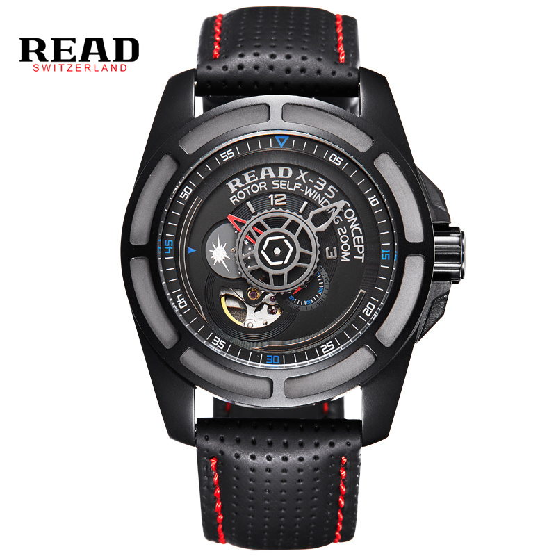 read brand leather band luxury quality men male military clock table man watches automatic. Black Bedroom Furniture Sets. Home Design Ideas