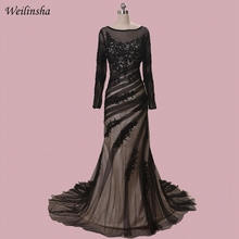 419cc13b9 Weilinsha Lace Mother of the Bride Dresses Long Sleeves Plus Size Tulle  Wedding Party Dress Mother